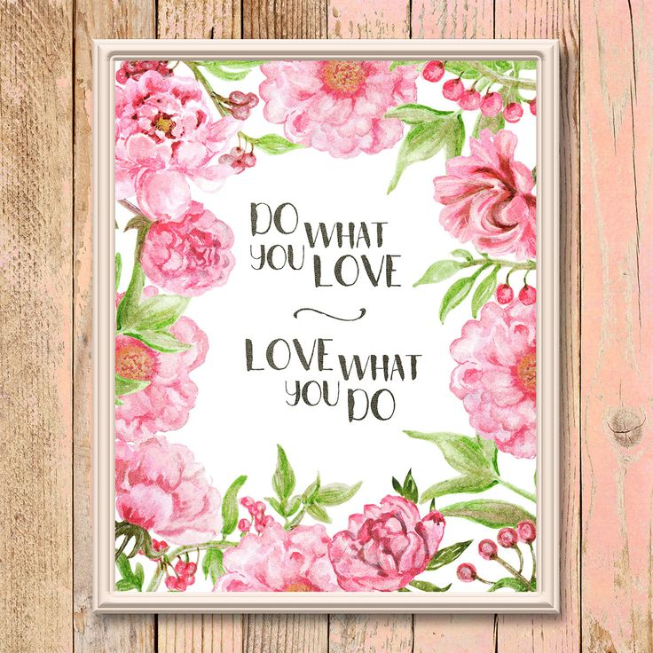 Printable inspirational Wall art, poster, quote, motivational sayings, bible verse, love, typography, flowers, digital download, coupon by ThePixelBox on Etsy