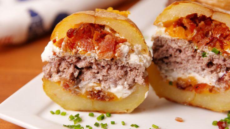 Potato Skin Burgers