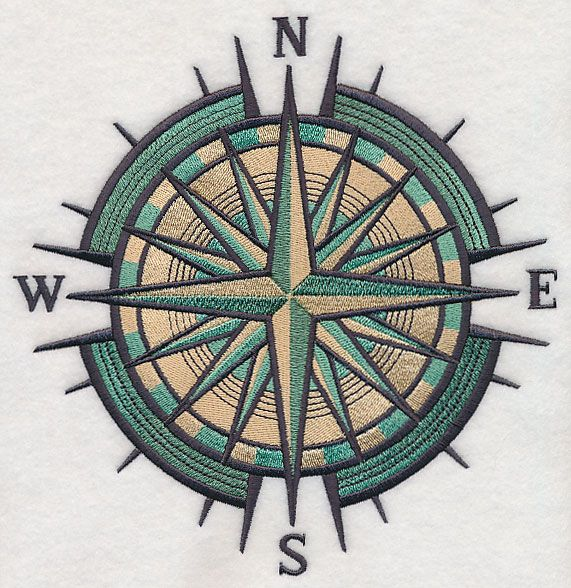 Mariner's Compass design (L2824) from www.Emblibrary.com