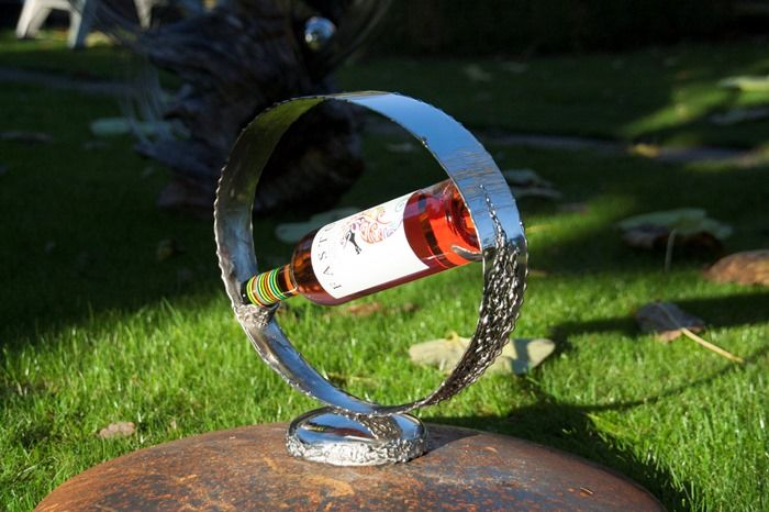 Rvs steel #wine #holder, polished and 3D welded | Made by Lebesque Design