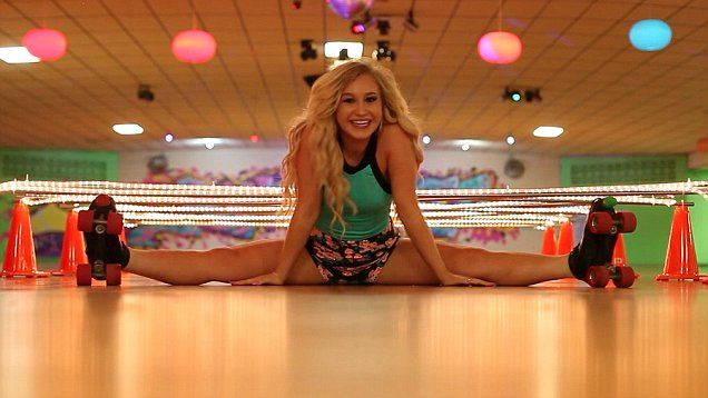Record-breaking 'limbo queen' does the splits on roller ...