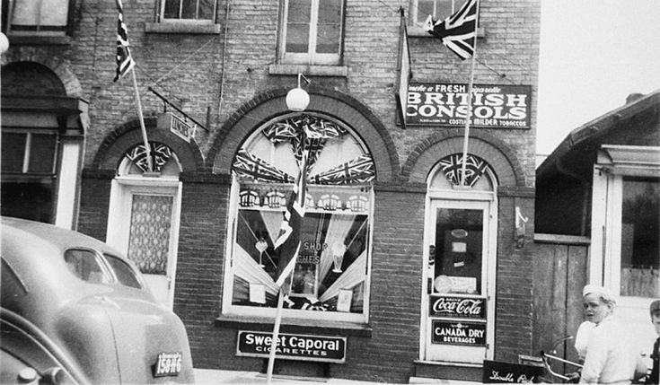 The Tuck Shop Decorated for the Coronation of King George VI