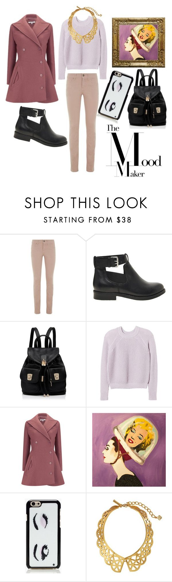 """""""Monday"""" by fakebrunette ❤ liked on Polyvore featuring Escada Sport, ASOS, Forever New, Rebecca Taylor, Carven, Ashley Longshore, Kate Spade, Oscar de la Renta, Winter and ootd"""