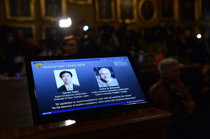Takaaki Kajita of the University of Tokyo and Arthur B. McDonald of Queen's University joined 199 laureates who have been honored with the prize since 1901.
