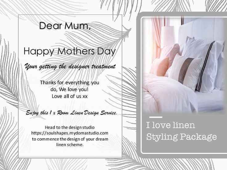 #motherday Mothers Day Voucher i Love Linen Styling Package- 1 x Room