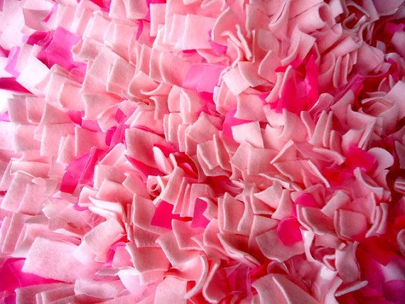 Bright Colorful Pink Shag Rug Rag Rug Shabby Chic Rug Baby Kids Prop Rag Shag  Rug Blanket Basket Filler Pink Home Decor