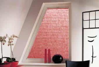 Plisségordijnen zijn uitermate geschikt voor ramen met een bijzondere vorm.