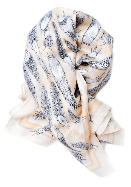 Craig Fellows Bug Print Silk Scarf in Escargatoire | LEIF