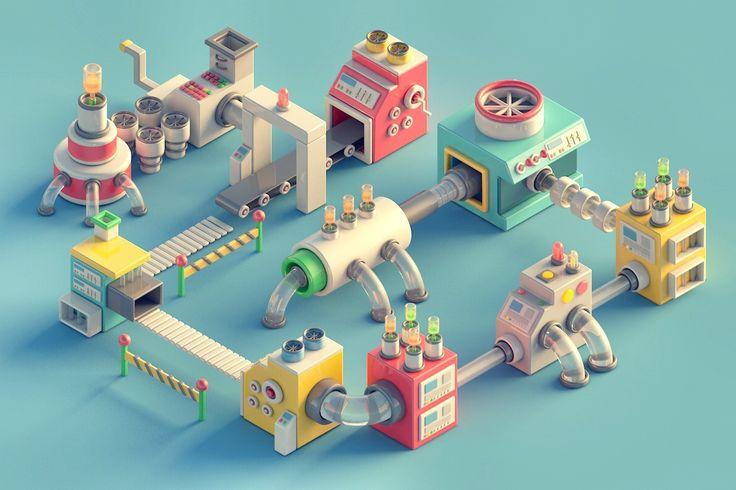 Mini Machines 01 on Behance