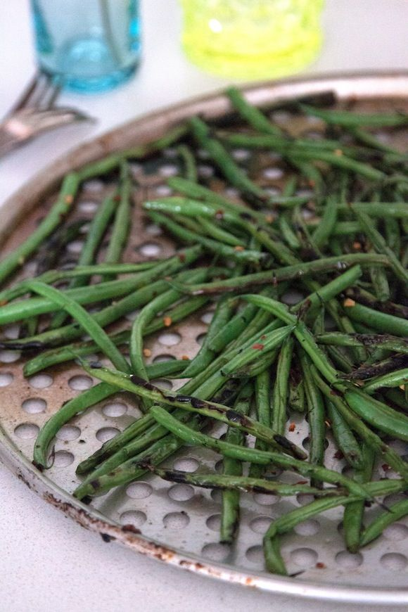 Grilled Green Beans - What's Gaby Cooking