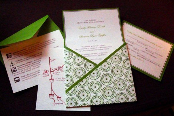 Orange Wedding Invitation Kit