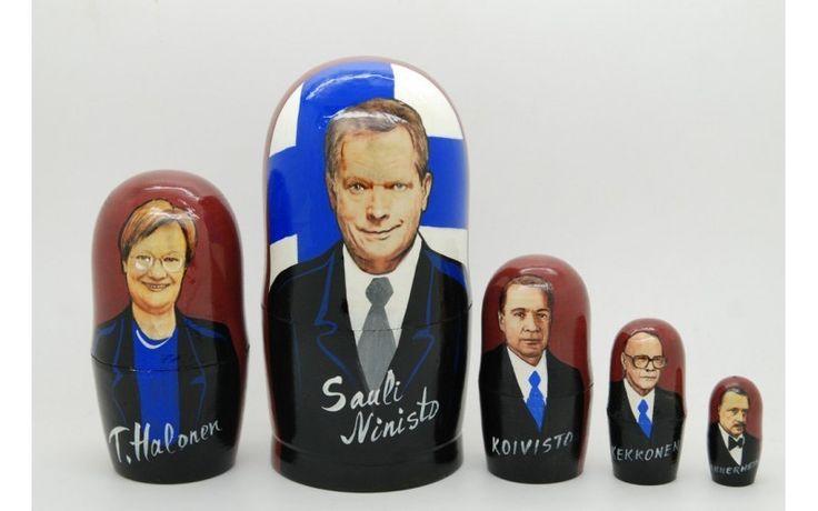 Matryoshka nesting doll Finnish politicians from ArtMatryoshka by DaWanda.com