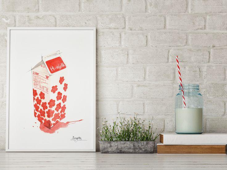 """""""Melkekartong""""     Norwegian brand by illustrator/artist Mona Stenseth Erlandsen.      www.emmeselle.no"""