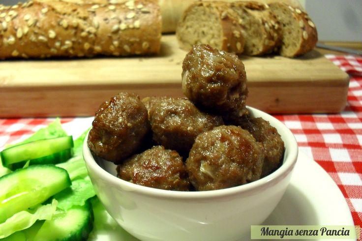 Polpettine di carne al forno senza uova o olio