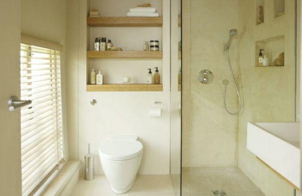 Kleines Badezimmer Mit Dusche Ideen : kleine Badezimmer dusche toilette regale idee Ideen rund ums Haus