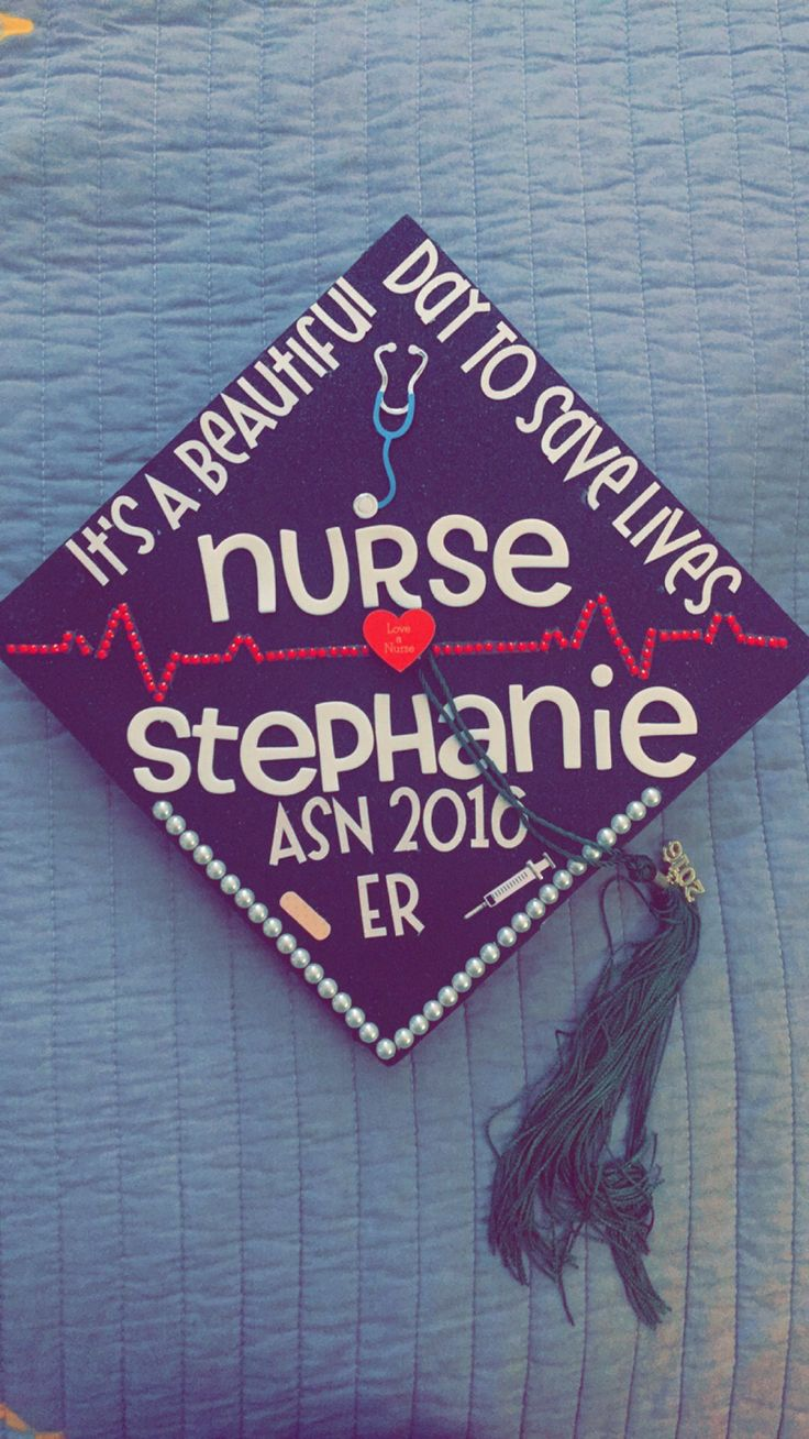 Nursing school graduation cap! It's a beautiful day to save lives!