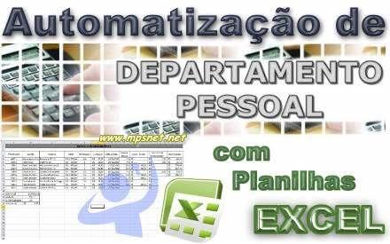 Calculos de Folhas de Pagamentos e demais cálculos da area trabalhista com Planilhas EXCEL para automatizacao e melhora de produtividade em seus trabalhos. Veja em detalhes neste site