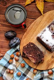 simple hazelnut plum cake