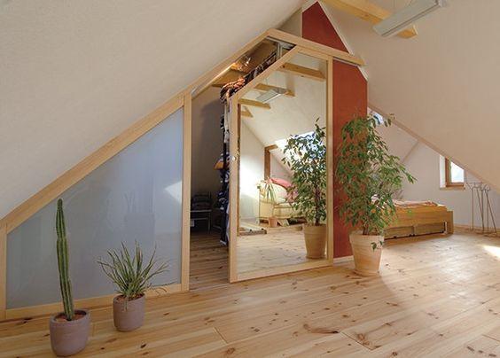 die besten 25 einbauschrank dachschr ge ideen auf. Black Bedroom Furniture Sets. Home Design Ideas