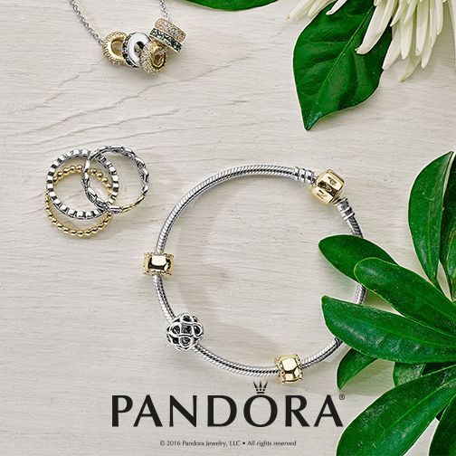 Two-tones are taking over. Try mixing your favourite PANDORA sterling silver and 14k gold jewellery to refresh your style.