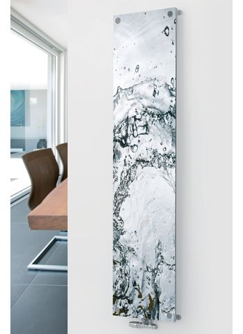 Glass Radiator P16 Water Image - Agadon Heat & Design : can print your own pictures on their flat glass rads