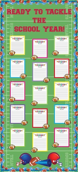 Sports Themed Back To School and Fall Bulletin Board Idea