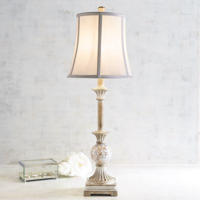 Mother of pearl buffet lamp