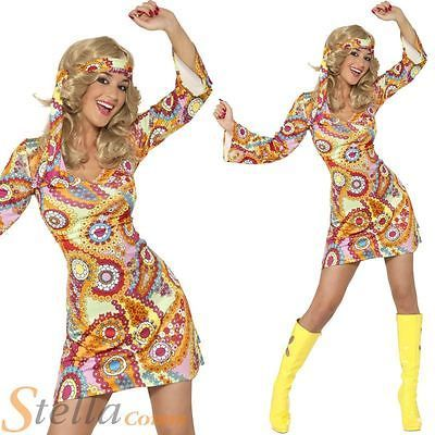 60s 70s #hippy chick ladies psychedelic hippie fancy dress #costume #outfit 8-18, View more on the LINK: http://www.zeppy.io/product/gb/2/130678952998/