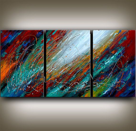 ORIGINAL ART red abstract painting abstract paintings abstract art for sale LARGE modern art abstract online gallery fine art Nandita on Etsy, $468.00