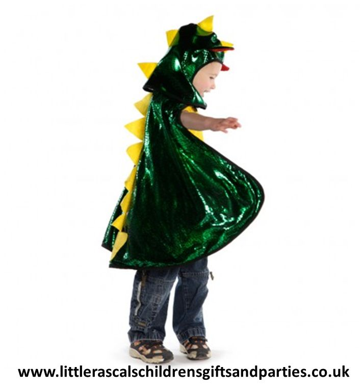 This award winning Dragon/Knight cape and hood by Great Pretenders is great for little boys who can't decide what they would rather be...  £26.00 - cape, £12.00 - hood http://www.littlerascalschildrensgiftsandparties.co.uk/#!knights-and-dragon-fancy-dress-costumes/c1tyt