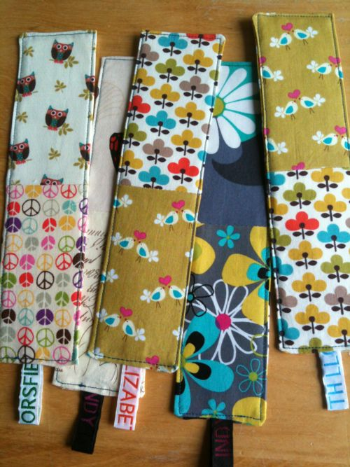 Fabric bookmarks - teacher gifts