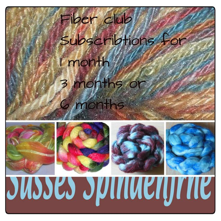 Handpainted Luxury Blended Fiber of the Month Club