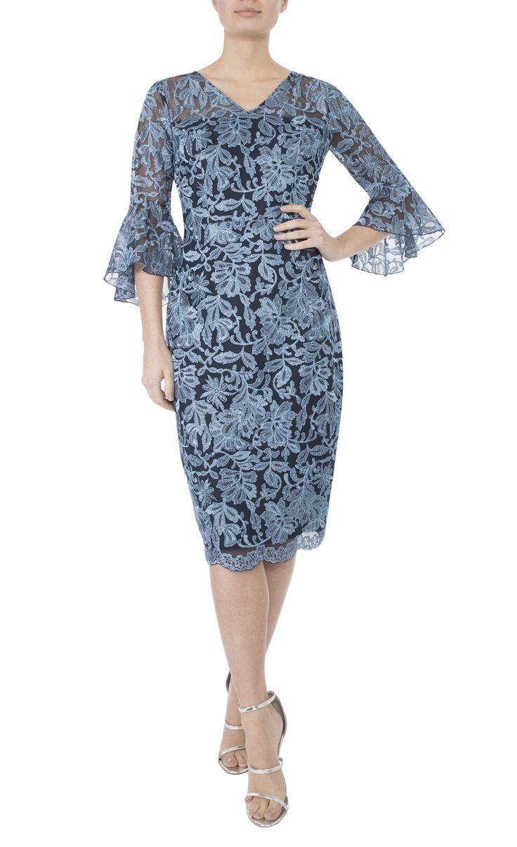 Occasion Wear   Glacier Embroidered Lurex Dress