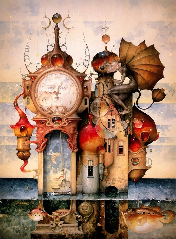 "Clock Hourglass Time:  ""Neptune's #Watch,"" Daniel Merriam."
