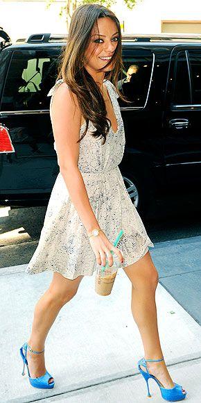 Mila Kunis DressSummer Dresses, Milakunis, Fashion Style, Mila Kunis, Dresses Shoes, Outfit, Brian Atwood, Heels, The Dresses