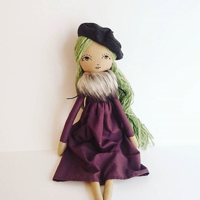 Her name is Adele. She is surely a favorite. She is $120.00. I am giving my instagram followers first dibs--just comment SOLD and send your PayPal in DM. . . . . #Adele #green #purple #dress #French #baret #winter #autumn #autumndolls #handmade #maker #etsyshop #etsyfinds #Christmas #gift #girlstuff #kidstoys #nursery #nurserydecor #baby #art #mompreneur #momofgirls #sale #instagramsale #handmadedoll #dolls #dollsofinstagram #love #fashion #