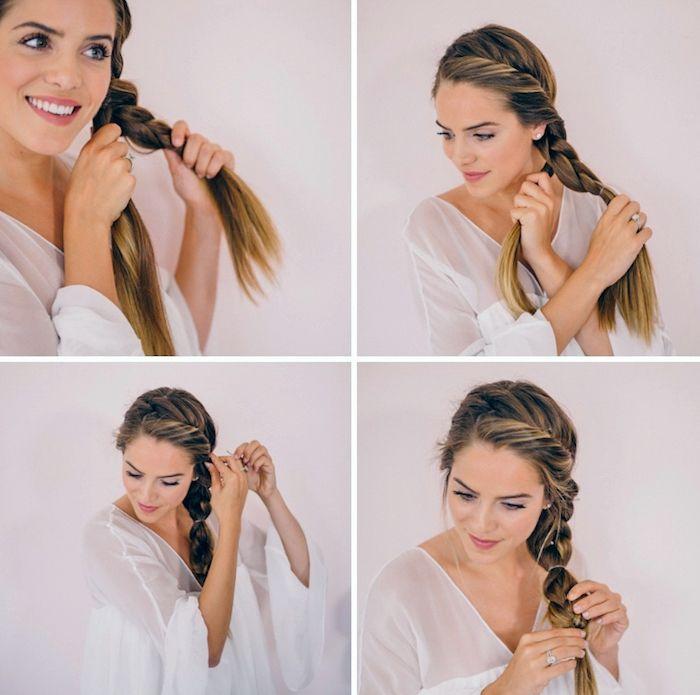 1001 Inspirierende Ideen Fur Einfache Flechtfrisuren Zum Selbermachen Flechtfrisuren Geflochtene Frisuren Frisuren Damen Zopf