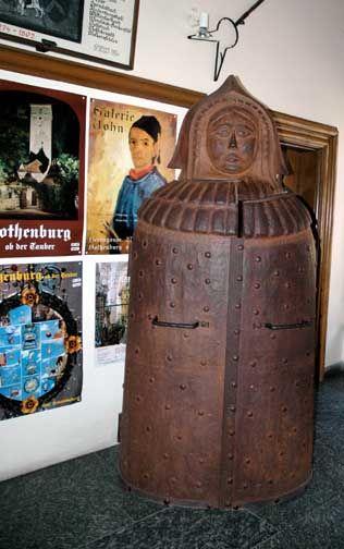 Rothenburg ob der Tauber - Criminal Museum shows Iron Maiden, neck violins and Chastity belts