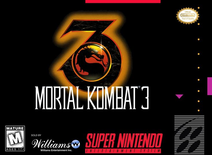 Mortal Kombat III 3 SNES Super Nintendo
