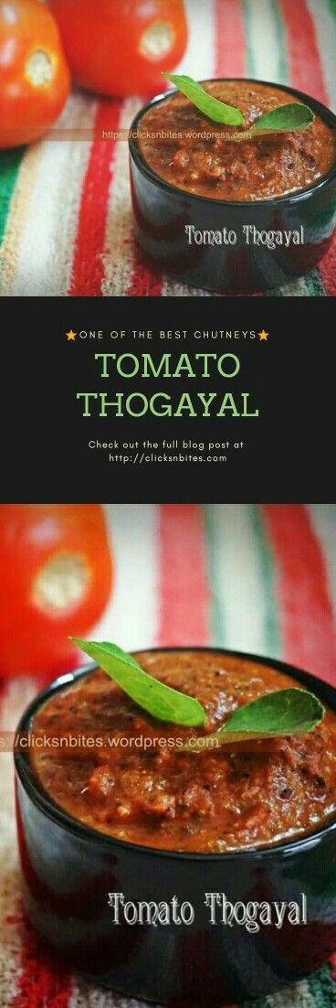 Yummy south indian tomato chutney/Thogayal - Perfect match for your Idlis and dosas #chutney #idlidosa #tomatochutney