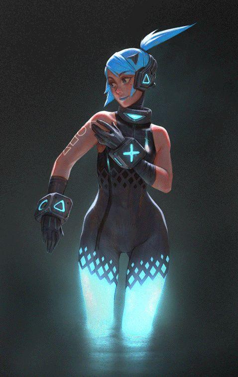 Ps4 Girl - Animated
