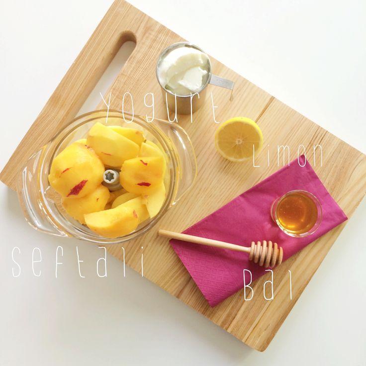 Peach Frozen Yogurt Recipe/ Şeftalili Donmuş Yoğurt Tarifi