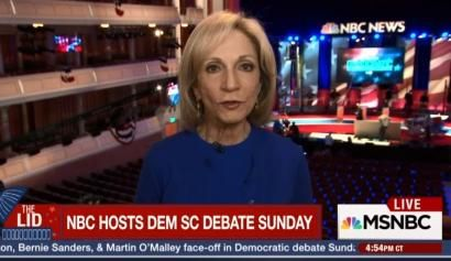 NBC Debate Moderator Andrea Mitchell: Two Decades of Spinning the News Hillary's Way