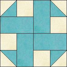 Block of Day for October 14, 2016 - Scrap Zig-Zag-strip-piecing/The pattern may be downloaded until: Monday, October 31, 2016.