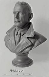 Bust, Charles Ulm, plaster / bronze, made by Thelma Dahle, Australia, 1929-1939