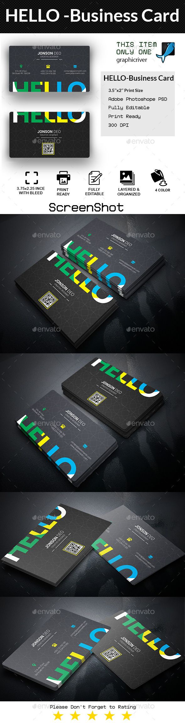 HELLO - Business Card Template PSD