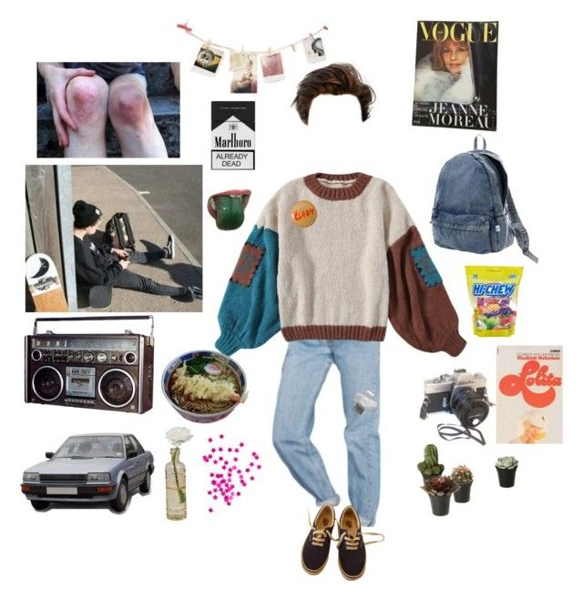 """""""You left me in the hallway"""" by short-skirt-long-jacket ❤ liked on Polyvore featuring Urban Outfitters, Vans, Cultural Intrigue, Dot & Bo, Issey Miyake and CO"""