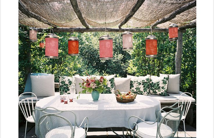 ambiance champêtre: Ideas, Outdoor Living, Outdoorspaces, Patio, Gardens, Backyard, Outdoor Spaces, Lanterns