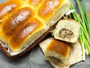 Печеные пирожки с говядиной и зеленым луком — рецепт с фото пошагово