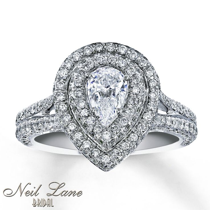 This looks much better in person. Kay - Diamond Engagement Ring 1 3/4 ct tw Pear-shape 14K White Gold